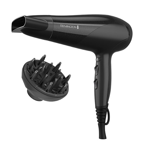 High Speed Hair Dryer with Diffuser, Black - D3193