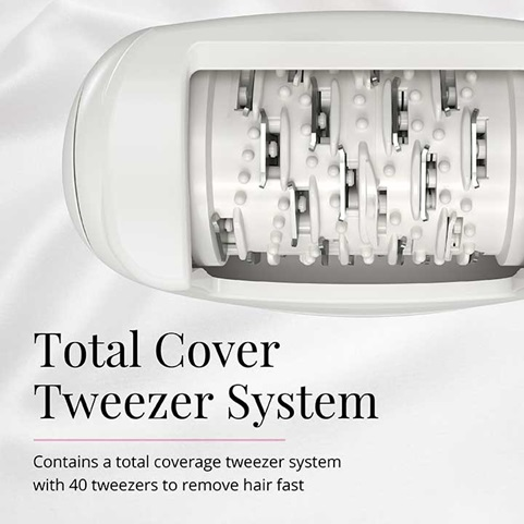 Total Cover Tweezer System - Contains a total coverage tweezer system with 40 tweezers to remove hair fast