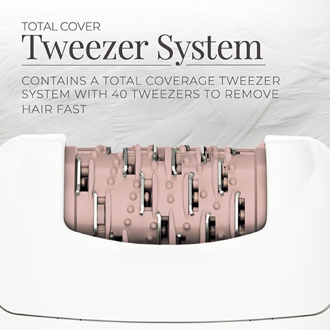 Smooth & Silky® Essential Epilator with Total Coverage Twezzer System - EP7010GCDN