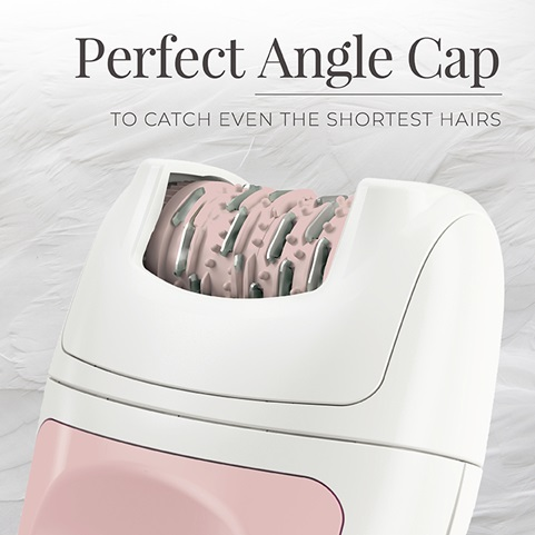 Smooth & Silky® Essential Epilator with a perfect-angle cap to catch even the shortest hairs - EP7010GCDN