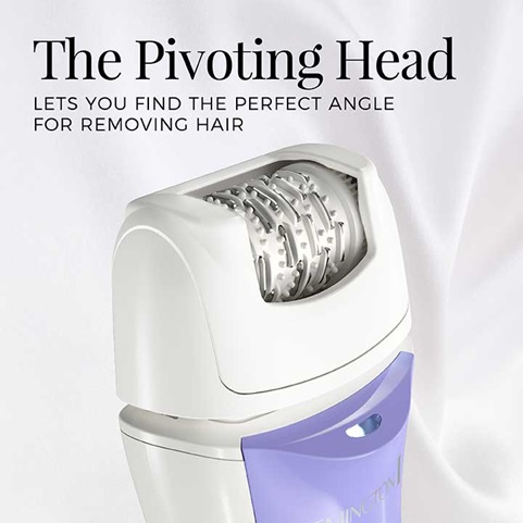 The Pivoting Head lets you find the perfect angle for removing hair