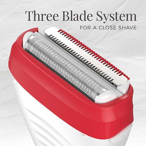 Three blade system for a close shave
