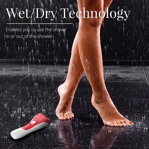 wet dry technology enables you to use the shaver in or out of the shower