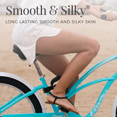 Smooth and silky. Long lasting smooth and silky skin