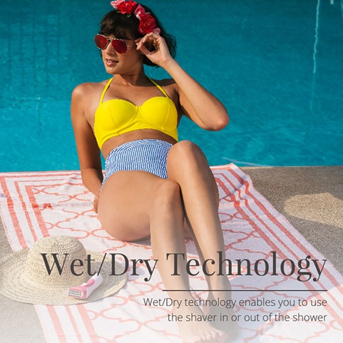Wet Dry Technology. Wet dry technology enables you to use the shaver in or out of the shower