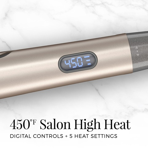 450 degree salon high heat. Digital controls, plus 5 heat settings.