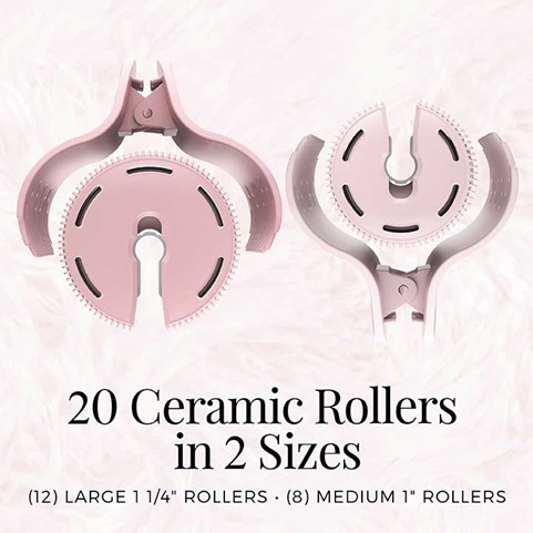 20 Ceramic Rollers in 2 Sizes. 12 large 1 1/4