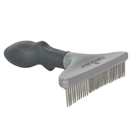 grooming rake for dogs and cats furminator