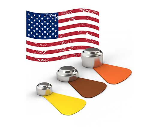 made in the usa sizes 13, 13 and 312 hearing aid batteries
