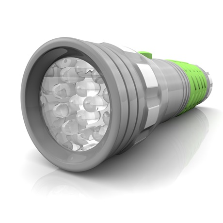 Brilliant Solutions™ 14 LED Glow In The Dark Light Flashlight Lens