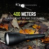 400 Meters Flashlight Beam Distance, 100 Meters on Energy-Saver | RWP123A-B