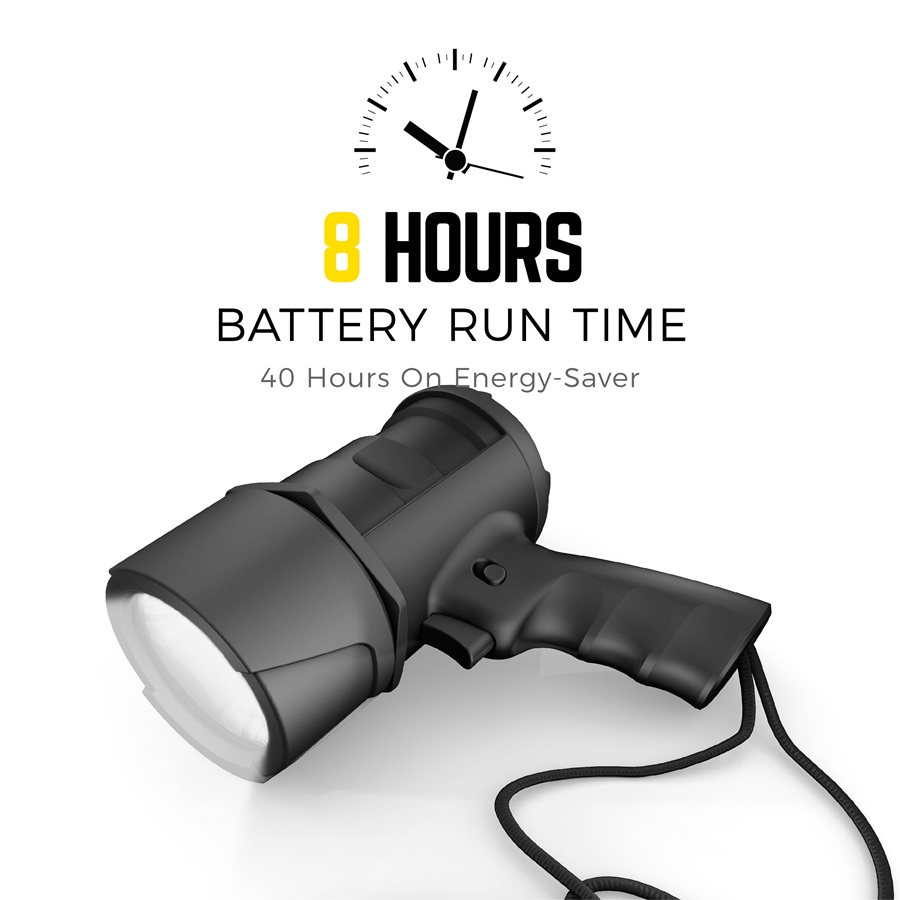 8 hours battery run time DIYSP6AA-BA