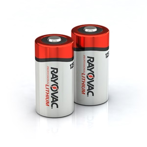 RAYOVAC® professional photo lithium batteries 123a