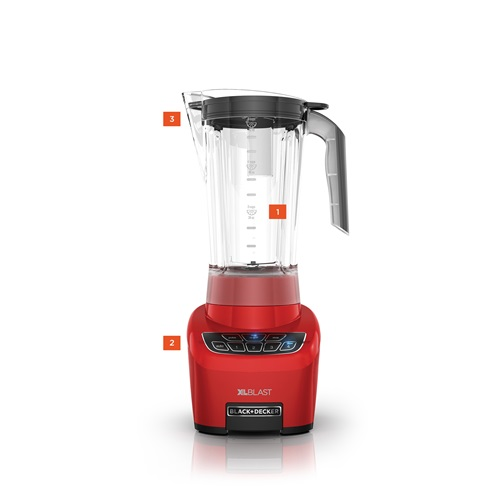 Black+Decker® xlblast drink machine party blender bl4000r red