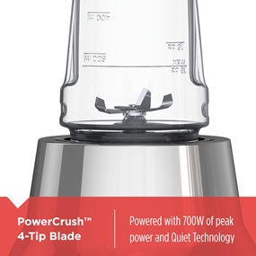 Power Crush 4 tip blade. powered with 700 watts of peak power and quiet technology
