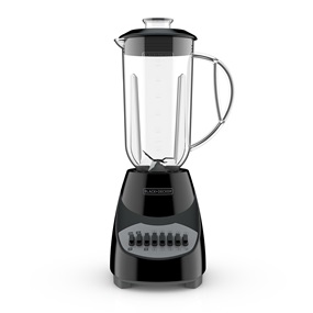 BLACK+DECKER BL2010BP Countertop Blender with 6-Cup Plastic Jar, 10-Speed Settings, Black Blender