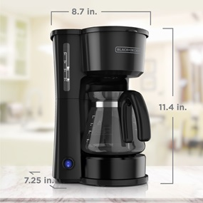 CM0750B 4-in-1 5-Cup* Coffee Station Coffeemaker in Black