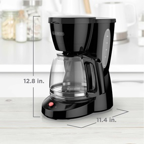 black and decker 12 cup programmable coffee maker with dimensions CM0940BD