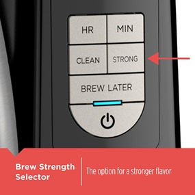 12-Cup Thermal Programmable Coffeemaker features a brew-strength selector - CM2045B.