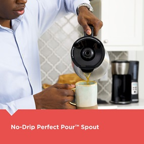 No-Drip perfect pour™ spout