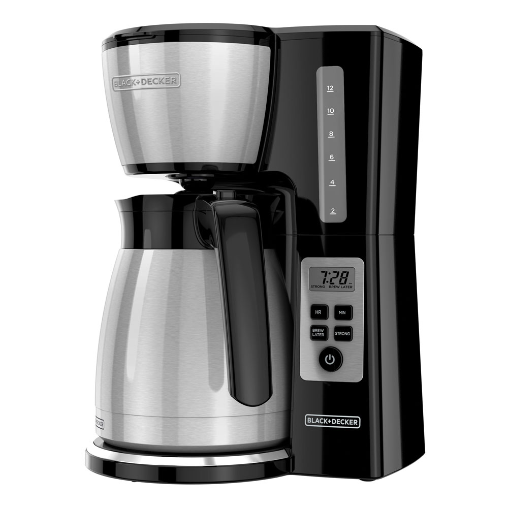 12-Cup* Thermal Carafe Programmable Coffeemaker, Stainless Steel, CM2043S