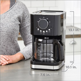 Select-A-Size Easy Dial Programmable Black Coffeemaker | CM4200B | BLACK + DECKER