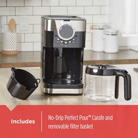 Includes no-drip perfect pour carafe and removable filter basket CM4200S