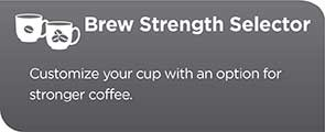 Brew Strength Selector to customize your cup with an option for stronger coffee CM4200S