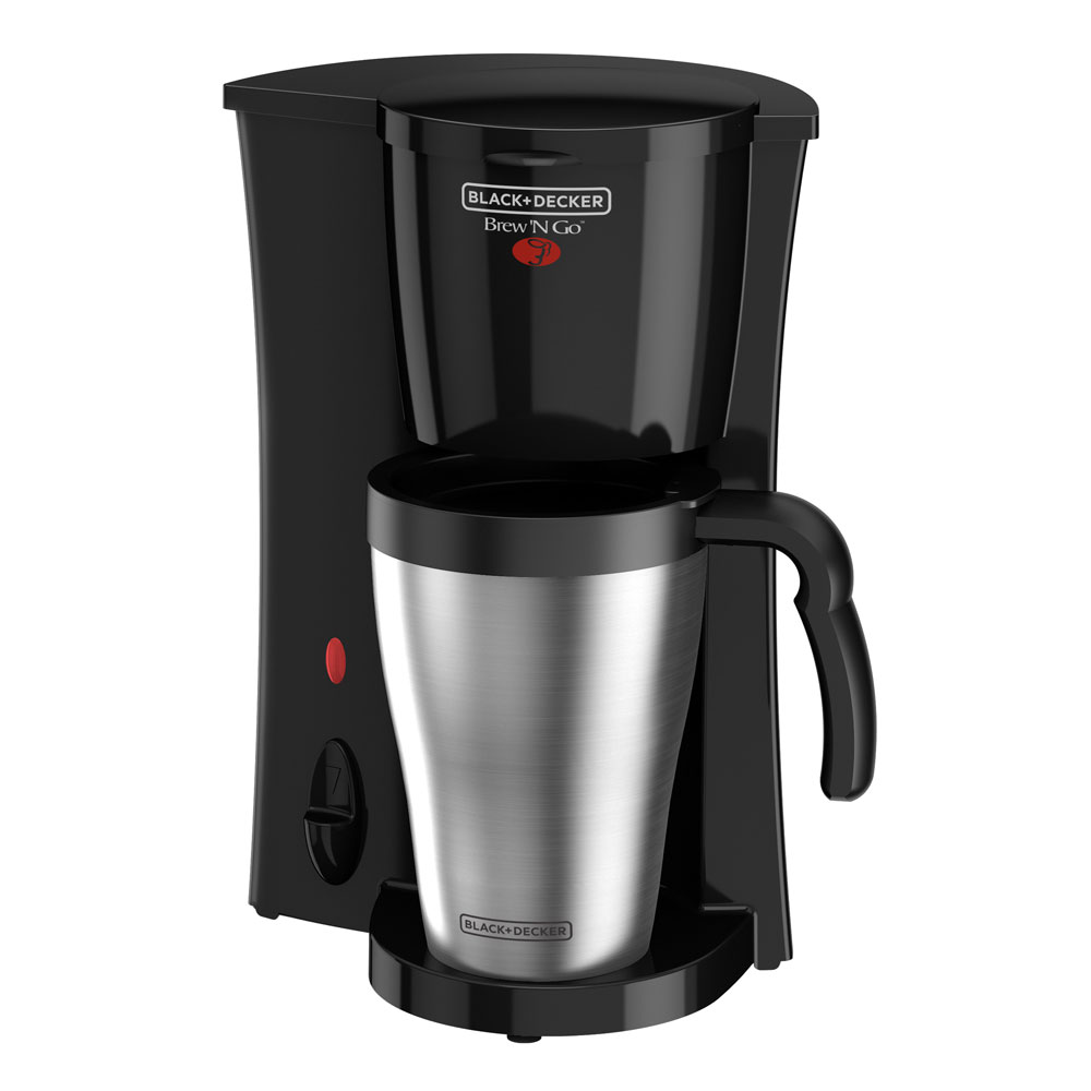 Black+Decker Brew 'n Go Personal Coffeemaker with Travel Mug | DCM18S