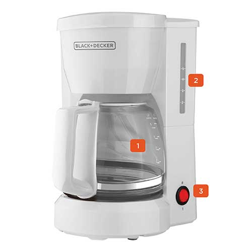 black and decker 5 cup switch coffeemaker dcm600w