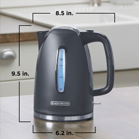 the kettle scaled - 8.5 inches by 6.2 inches by 9.5 inches