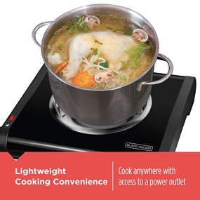 Lightweight Cooking Convenience. Cook anywhere with access to a power outlet