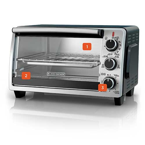 6 Slice Convection Oven Stainless Steel To1950sbd