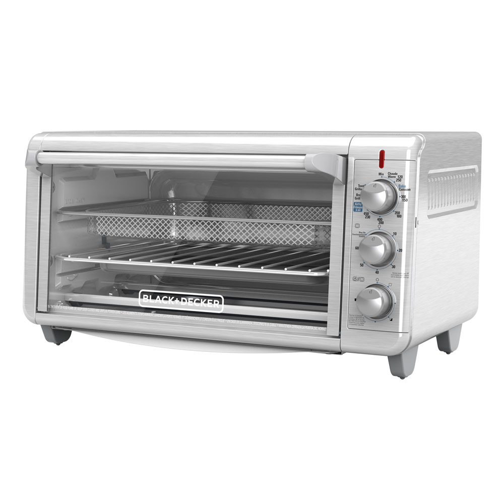 BLACK+DECKER™ Extra Wide Crisp 'N Bake Air Fry Toaster Oven, TO3265XSSD