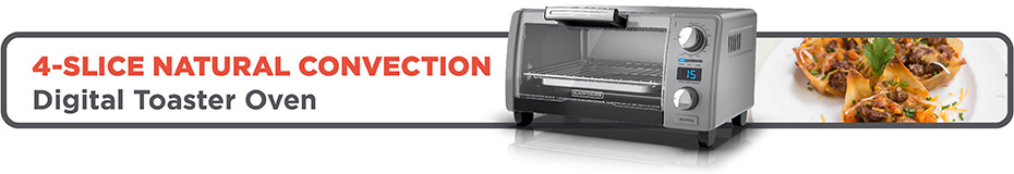 4-Slice Natural Convection Digital Toaster Oven
