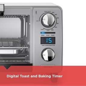 Digital Toast Shade Selector and Timer: Digital controls make it easy to select the perfect cooking and toasting times for ideal results.