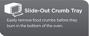 Slide-Out Crumb Tray