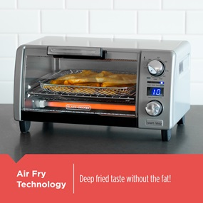 Air Fry Technology. Deep fried taste without the fat!