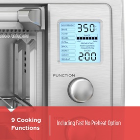 9 Cooking Functions | Including fast no preheat otion
