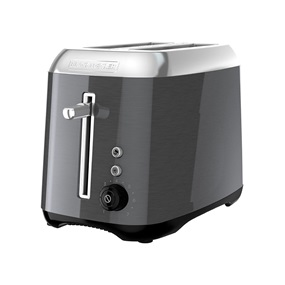 2-Slice Toaster, Bagel Toaster, Black Stainless Steel, TR3490BS