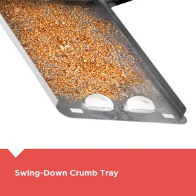 Swing-Down Crumb Tray