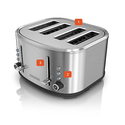 4-Slice Toaster TR4300SD Three Quarters View