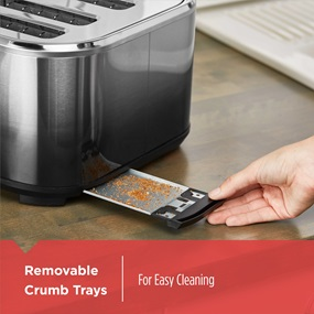 Removable Crumb Trays for Easy Cleaning