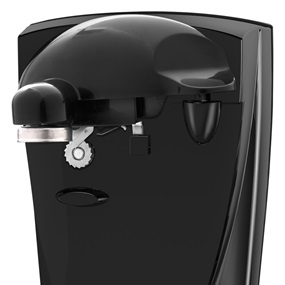 Black+Decker™ 2 in 1 black electric can opener co450b