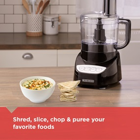 Shred, slice, chop and puree your favorite foods