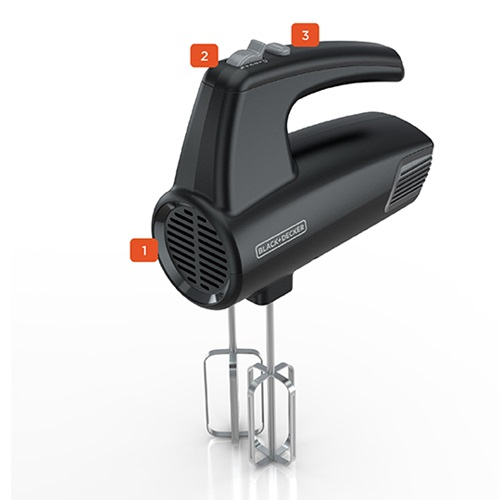 5-Speed Hand Mixer with numbered callout features - MX410B