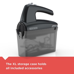 5-speed hand mixer with included storage case - MX410B