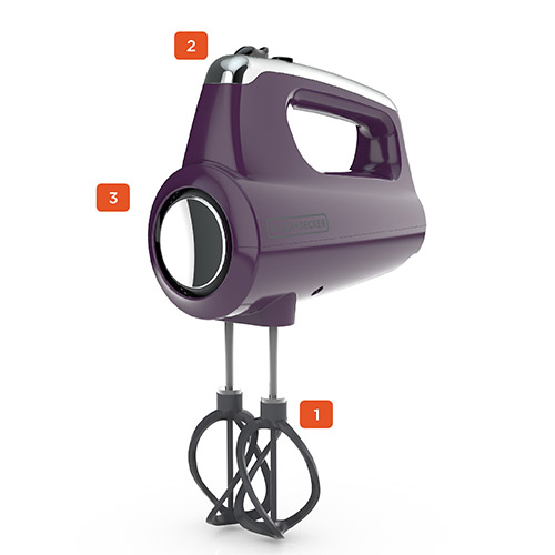 Helix Performance Premium Hand Mixer, Purple
