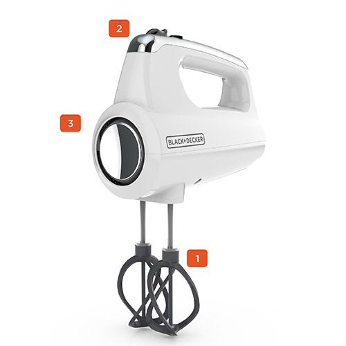 Helix Performance Premium Hand Mixer, White