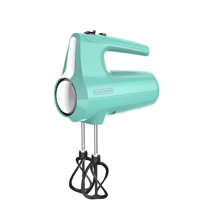 5-Speed Hand Mixer, Mint Green.